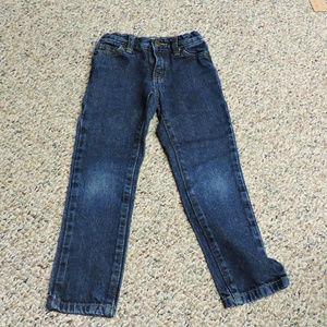 Boys size 5 slim blue jeans .. adjustable waist
